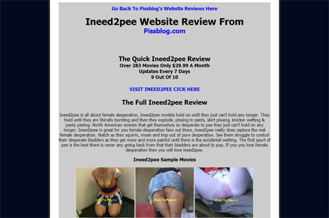 Ineed2pee Website Review