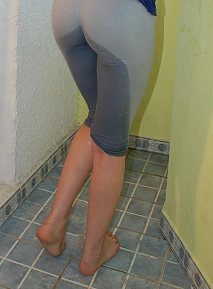 tights soaked in piss